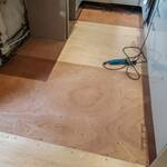 new plywood base down